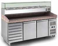Pizza Counter with Graniter Top – 2 door 7 Nature drawers