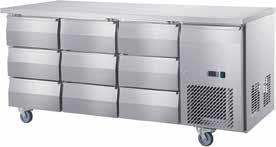 Undercounter Chiller 9 Drawer
