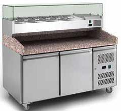 Pizza Counter with Graniter Top – 2 door chiller